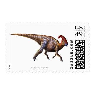 Near-Crested Lizard Postage