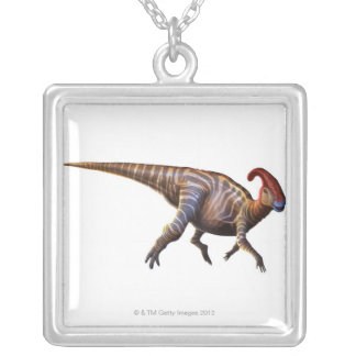 Near-Crested Lizard Silver Plated Necklace