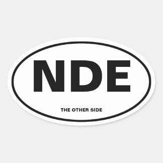 Near-Death Experience Oval Sticker