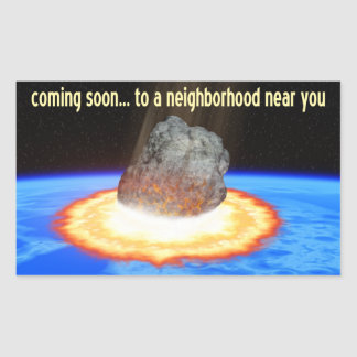 Near-Earth Asteroid Rectangular Sticker