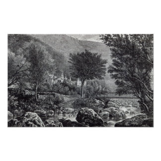 Near Lynmouth, from 'Leisure Hour', 1888 Poster