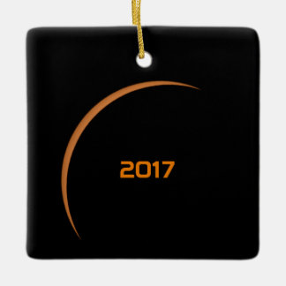 Near Maximum 2017 Partial Solar Eclipse Ceramic Ornament