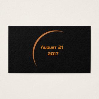 Near Maximum August 21, 2017 Partial Solar Eclipse Business Card