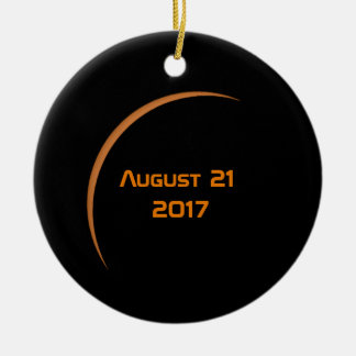 Near Maximum August 21, 2017 Partial Solar Eclipse Ceramic Ornament