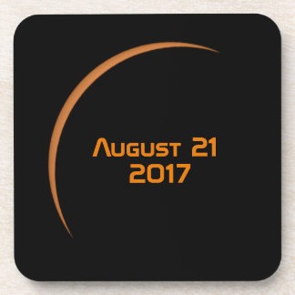 Near Maximum August 21, 2017 Partial Solar Eclipse Drink Coaster