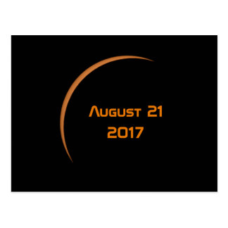 Near Maximum August 21, 2017 Partial Solar Eclipse Postcard