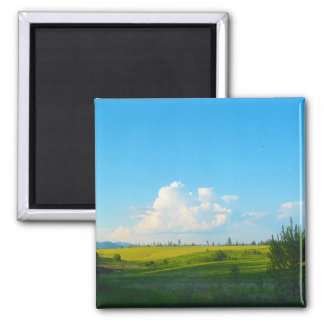 Near Moscow Idaho Photo 2 Inch Square Magnet