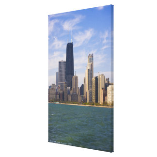 Near North city skyline and Hancock Tower from Canvas Print