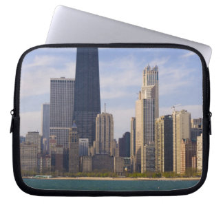 Near North city skyline and Hancock Tower from Laptop Sleeve