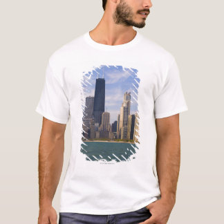 Near North city skyline and Hancock Tower from T-Shirt
