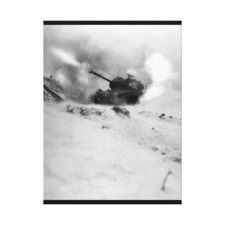 Near Song Sil-li, Korea, a tank of 6th _War Image Canvas Print