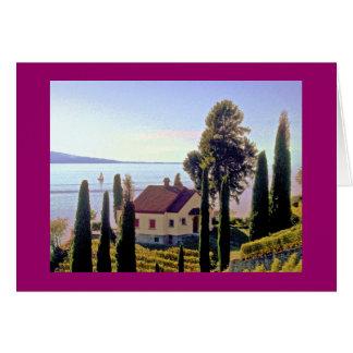 near St. Saphorin, Lavaux, Switzerland Card