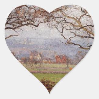 Near Sydenham Hill, Looking towards Lower Norwood Heart Sticker