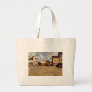 Near the Harbor by Odilon Redon Jumbo Tote Bag