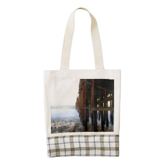 Near The Pier Zazzle HEART Tote Bag
