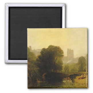 Near the Thames Lock, Windsor, c.1809 2 Inch Square Magnet