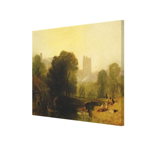 Near the Thames Lock, Windsor, c.1809 Stretched Canvas Print