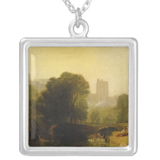 Near the Thames Lock, Windsor, c.1809 Silver Plated Necklace