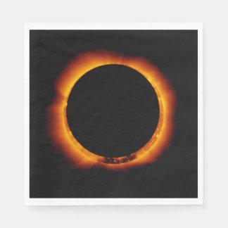 Near Total Solar Eclipse Napkin