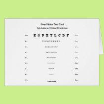 Near Vision Test Card (Visual Acuity Exam)