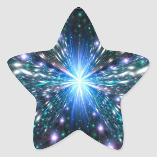 Nearing the Speed of Light Star Sticker