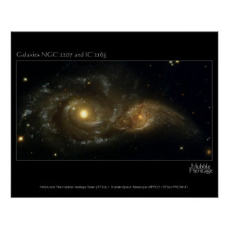Nearly Colliding Galaxies Hubble Telescope Print