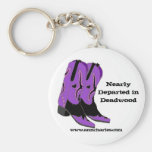 Nearly Departed in Deadwood Boots Key Chains