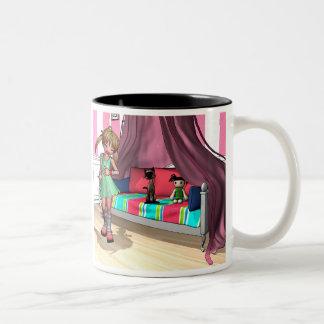 NearMe and Noodles Two-Tone Coffee Mug