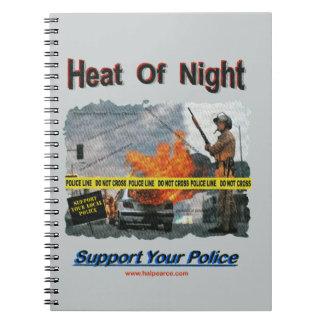 Neat Of Night Texurizerd Spiral Notebook