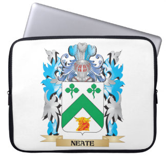 Neate Coat of Arms - Family Crest Laptop Sleeve