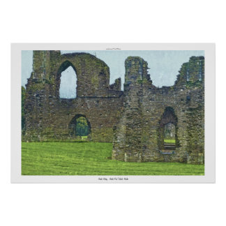Neath Abbey Ruins, Neath Port Talbot, Wales Poster