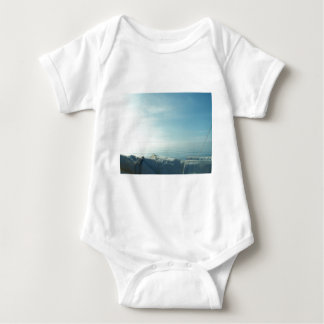 Neatly flaked sail baby bodysuit