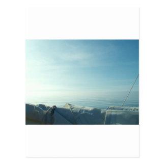 Neatly flaked sail postcard