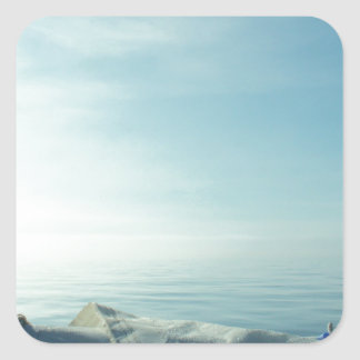 Neatly flaked sail square sticker