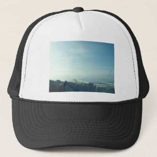 Neatly flaked sail trucker hat