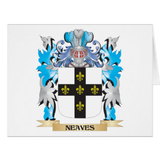 Neaves Coat of Arms - Family Crest Greeting Card