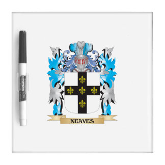 Neaves Coat of Arms - Family Crest Dry Erase Board