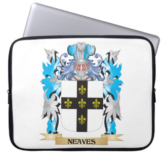 Neaves Coat of Arms - Family Crest Laptop Sleeve