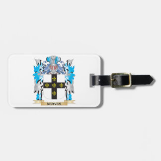 Neaves Coat of Arms - Family Crest Tag For Bags