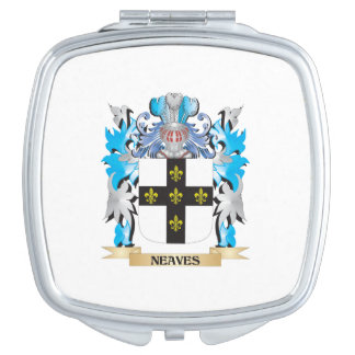 Neaves Coat of Arms - Family Crest Travel Mirrors