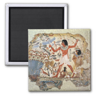 Nebamun hunting in the marshes with his wife 2 inch square magnet