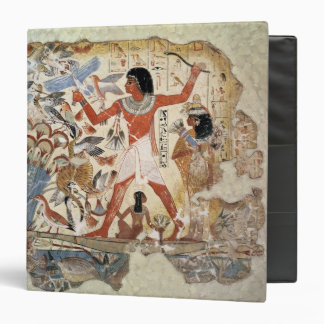 Nebamun hunting in the marshes with his wife 3 ring binder