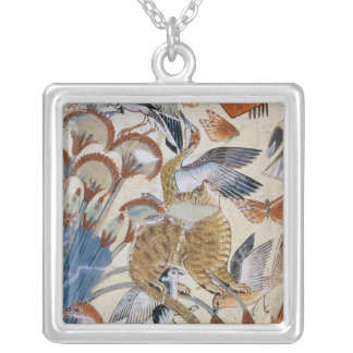 Nebamun hunting in the marshes with his wife silver plated necklace