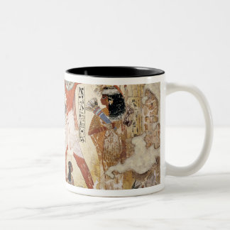 Nebamun hunting in the marshes with his wife Two-Tone coffee mug