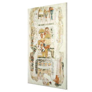Nebamun receiving offerings from his son canvas print