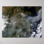 Neblina a través del llano de China del norte Impresiones