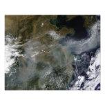 Neblina a través del llano de China del norte Fotografias