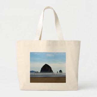 neblina de la playa bolsa de tela grande