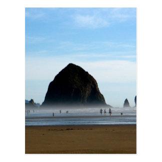 neblina de la playa tarjeta postal
