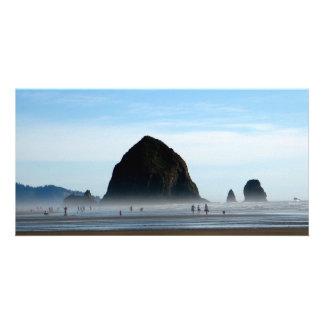 neblina de la playa tarjetas fotograficas personalizadas
